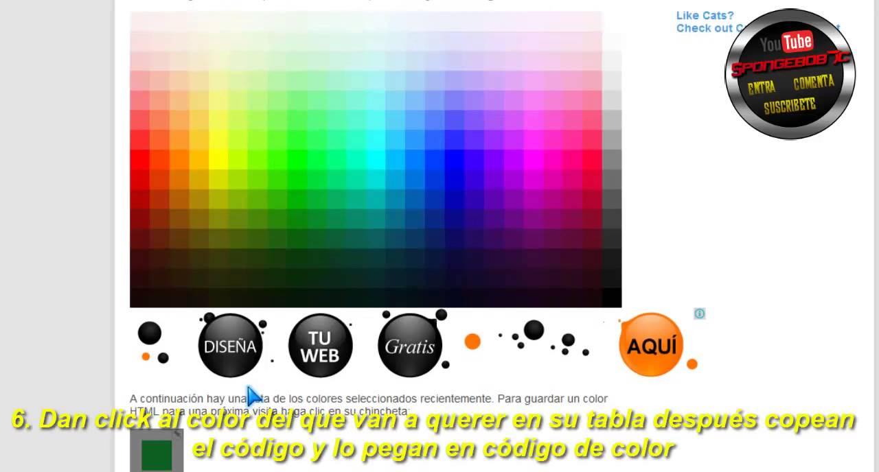 Poner Color de Fondo a las Tablas con HTML - YouTube
