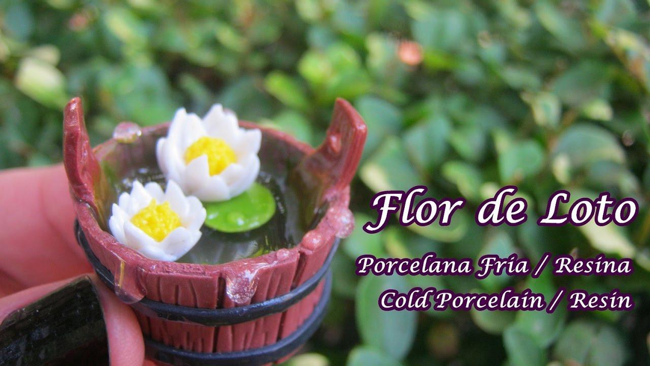 Flor De Loto En Porcelana Fria Resina Cold Porcelain Resin