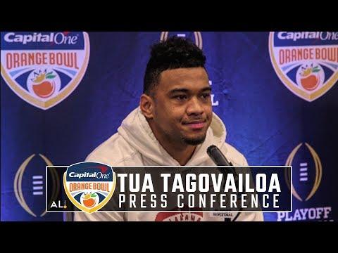 Tua Tagovailoa meets with media during Orange Bowl press conference