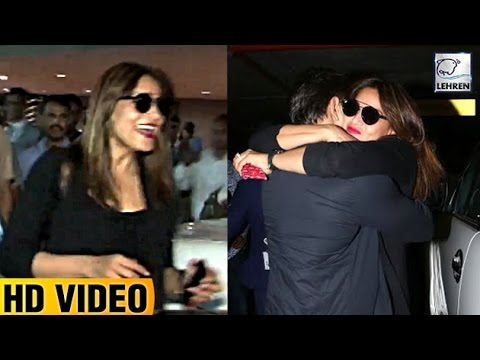 Bipasha Basus BEST Reaction On Seeing Karan Singh Grover At The Airport | LehrenTV