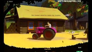 Tractor Racing Simulation Video Gameplay - Available for Free Download