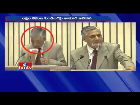 Supreme Court Chief Justice TS Thakur Cries Over Pending Cases | HMTV