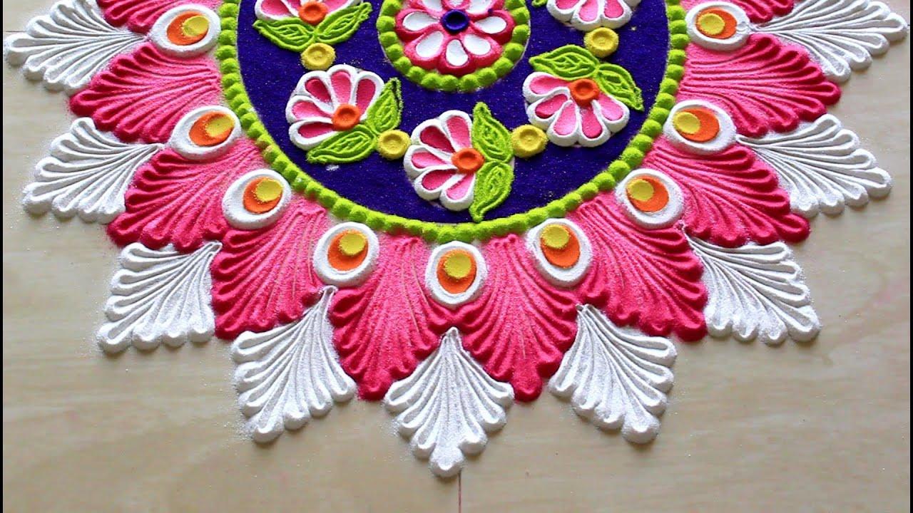 also navratri rangoli designs  diwali diya saraswathi pooja kolam rh youtube