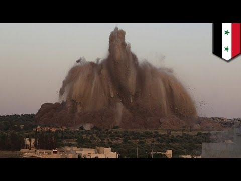 Syrian Civil War: rebels destroy army base with explosives packed in tunnels