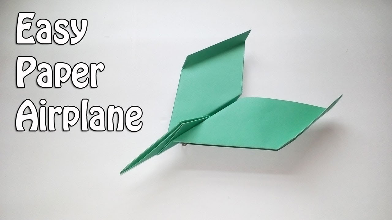 How To Make Cool Paper Airplane Designs How to make an easy pa...