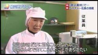 「眠れる素材」で被災地ブランドを 2016年2月23日火NHKニュースウォッチ9.