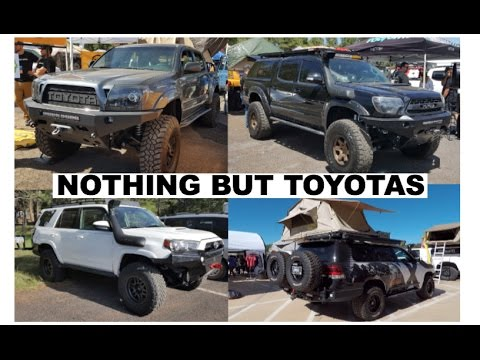 Toyotas make for great overlanding vehicles (Nothing but Toyotas in this video) : Overland Expo 2017