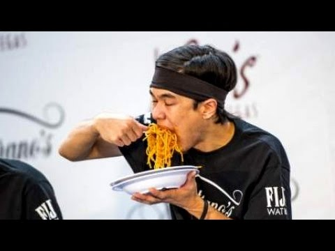 World Pasta Eating Championship (World Record Broken)