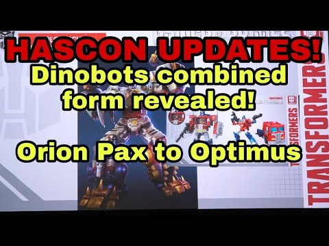 HASCON Transformers News- Dinobots Combine!  Orion Pax to Optimus Prime!