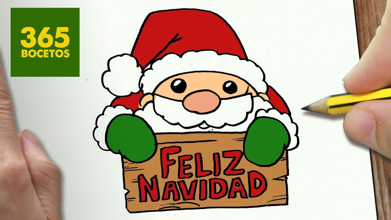 Como Dibujar Santa Claus Para Navidad Paso A Paso Dibujos Kawaii Navideños Draw A Santa Claus Youtube
