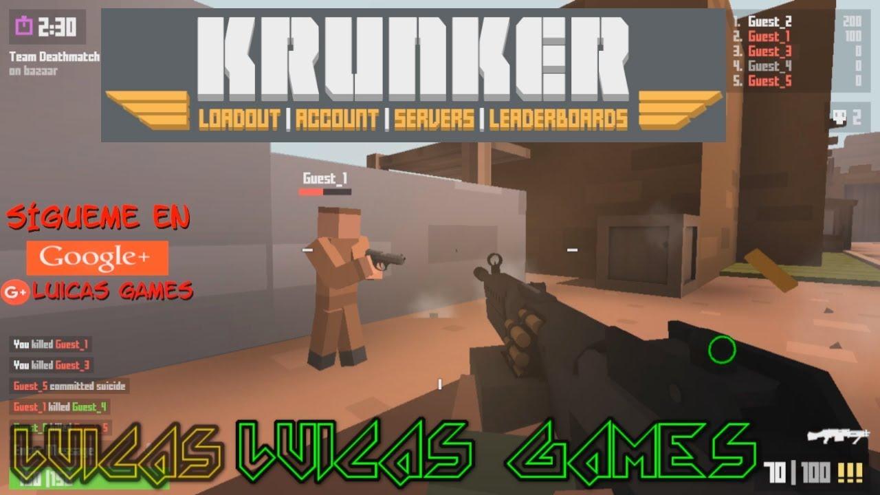 Krunker Io Todas Las Armas Juego Shooter Fps Gratis Pc Pocos