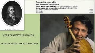 Franz Anton Hoffmeister: Viola Concerto in D major, Gérard Caussé