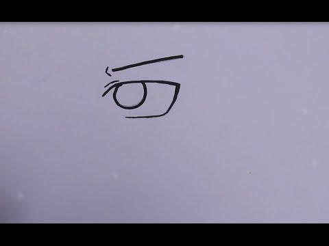 Comment Dessiner Un œil Manga Cours 4 Garcon Youtube