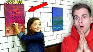 Girl Destroys Super Expensive Painting By Drawing On It!! thumbnail