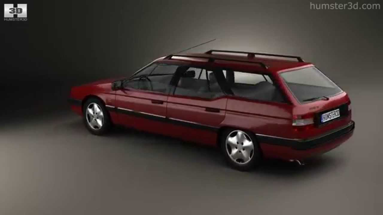 citroen xm break 1989 by 3d model store youtube. Black Bedroom Furniture Sets. Home Design Ideas