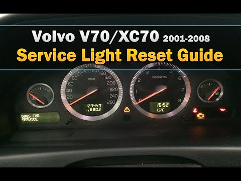 Volvo V70/XC70 Service Light Reset 2001-2008 - YouTube