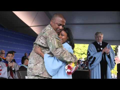 Army Reserve Captain Surprises Daughter at Her Columbia Engineering School Graduation