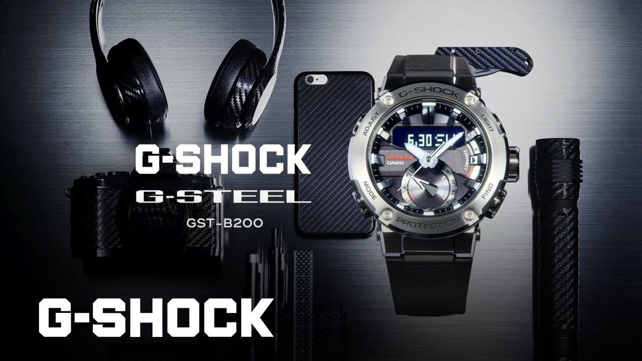 G Steel Gst B200 Carbon Core Guard Casio G Shock Youtube