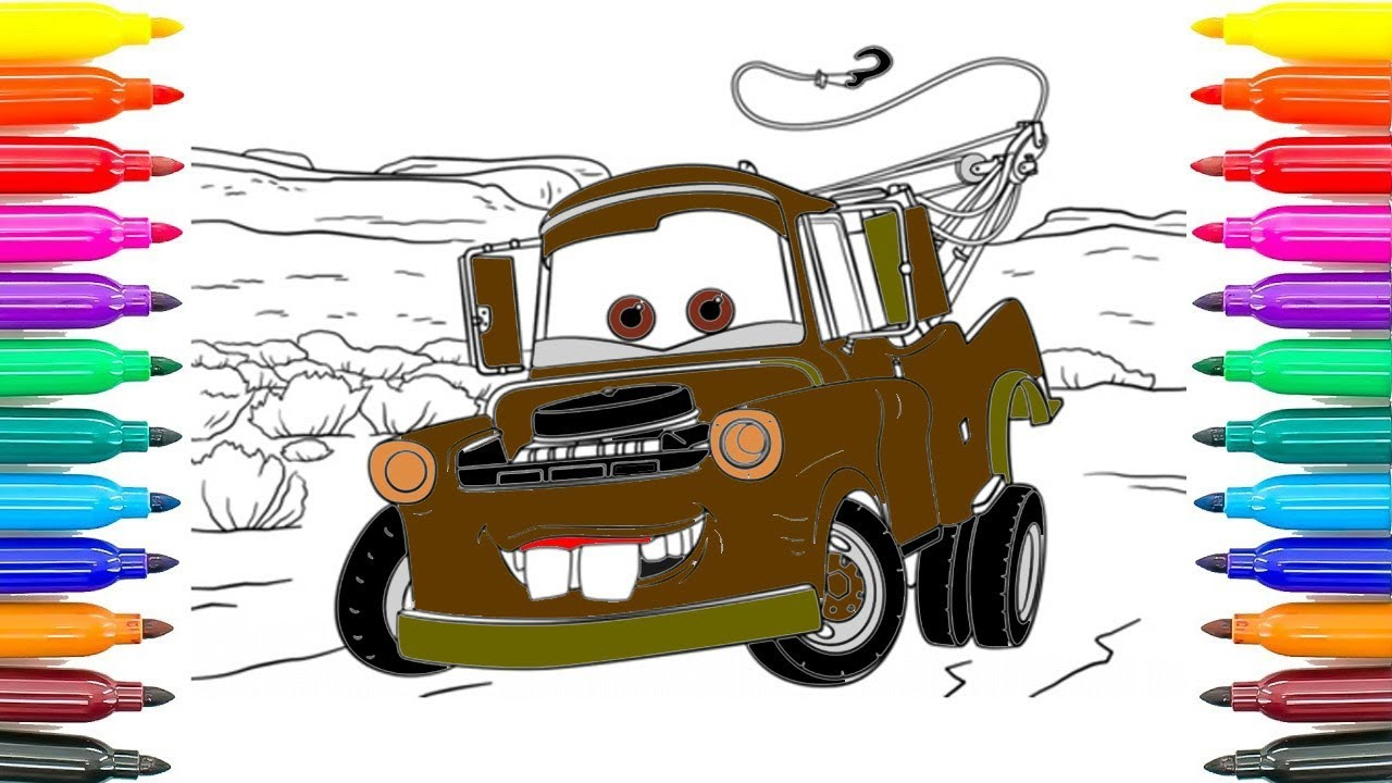 Ambulance car coloring pages : How to draw cars tow mater coloring pages how to coloring cars
