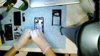 Замена дисплея. Replacing the display. LG Optimus 4X HD (P880)