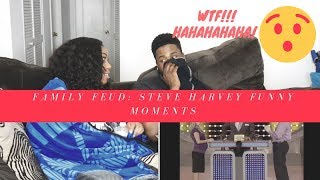 Family Feud - Funny Steve Harvey Compilation|REACTION|