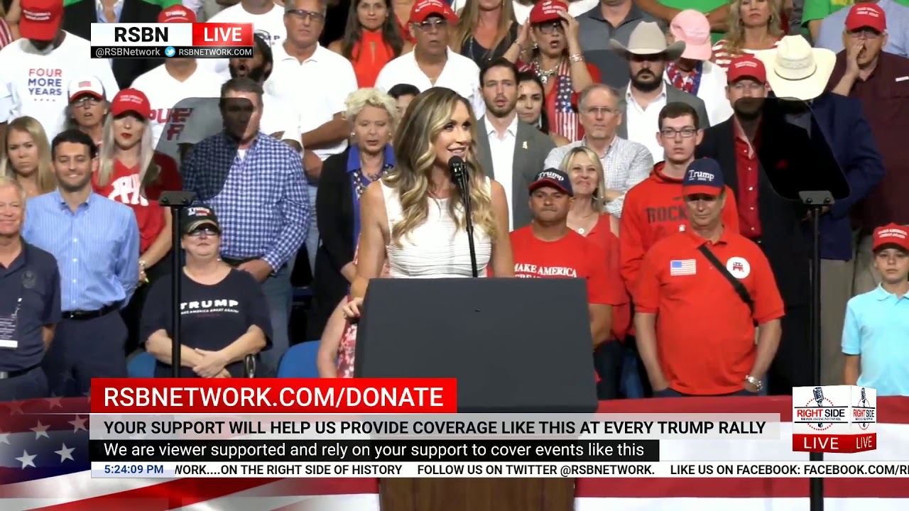 Right Side Broadcasting -  WATCH: Lara Trump Delivers Remarks at MASSIVE Rally in Orlando, FL