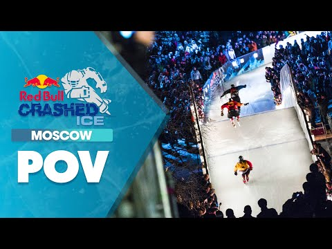 Crazy ice cross POV - Red Bull Crashed Ice: Moscow