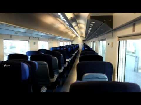 Visit of an Italian High Speed train Freccia Bianca