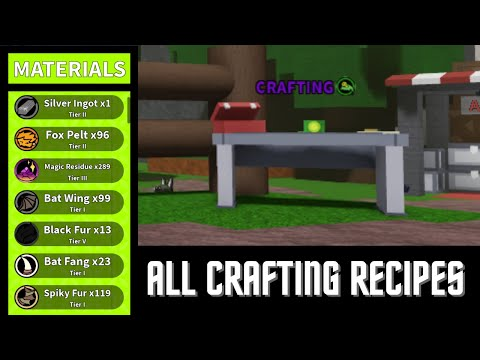 All Crafting Recipes in Critical Expedition