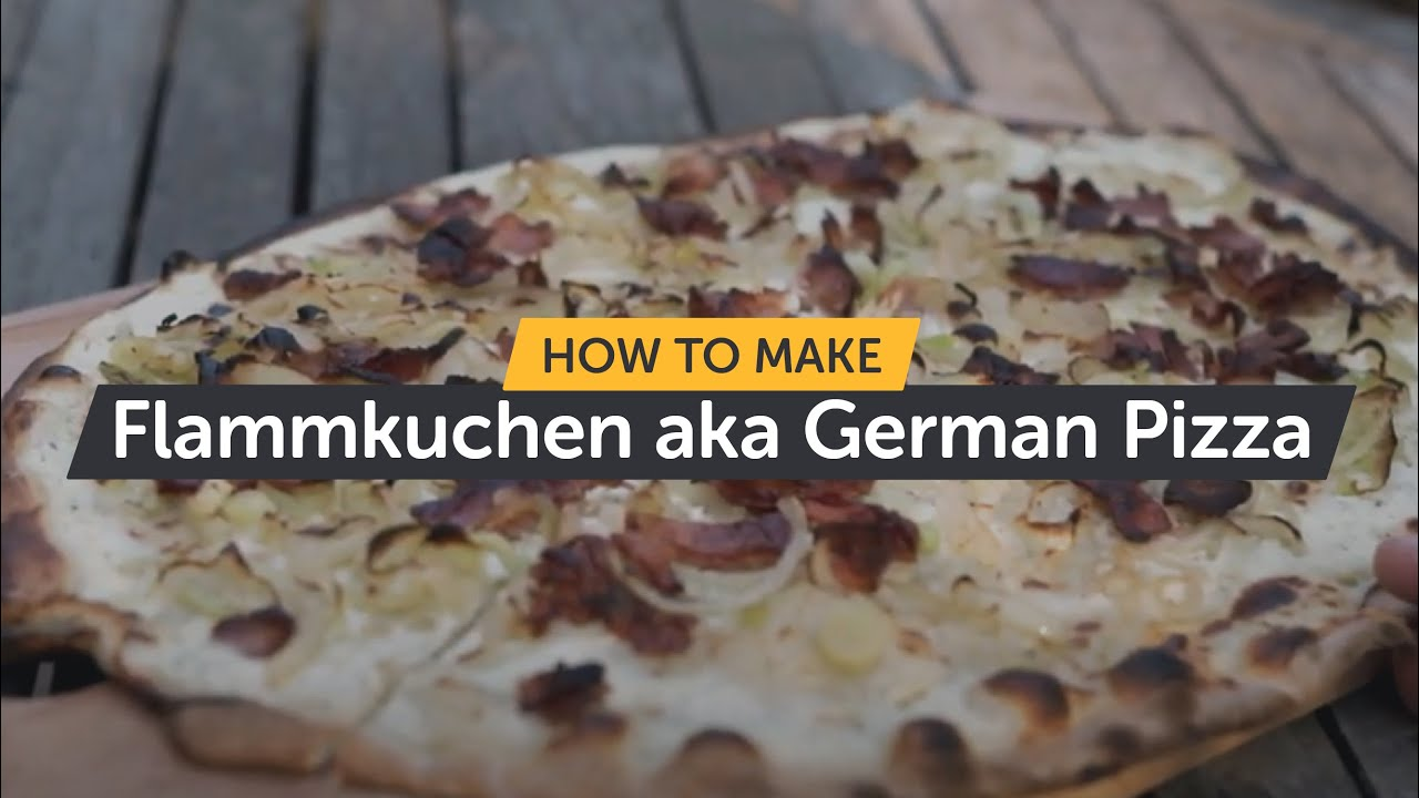 How To Make Flammkuchen aka German Pizza | Making Pizza At Home