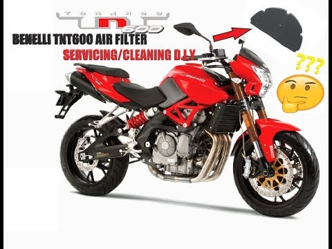 Benelli TNT600 | servicing cleaning Air filter | DIY