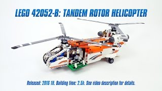 'Lego Technic 42052 B-model: Tandem Rotor Helicopter' Speed Build & Review