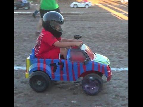 Power Wheels race at Salina Speedway ages (7-10) *on board camera* 77 Branston Arnder Jr. 9-18-16