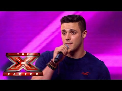 Barclay Beales sings Robbie William's Angels | Arena Auditions Wk 2 | The Xtra Factor UK 2014