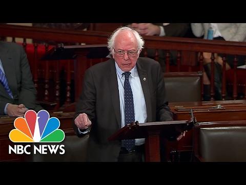 Bernie Sanders Reads Scott King Letter, Calls Warren's Silencing 'Incomprehensible' | NBC News