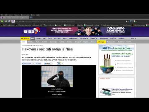 "United Albanian Hackers - Operation Destroyed ""Serbians Website"""