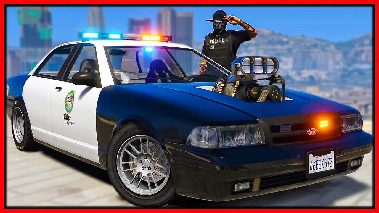GTA 5 Roleplay - FAKE DRAG COP CAR TROLLING COPS | RedlineRP