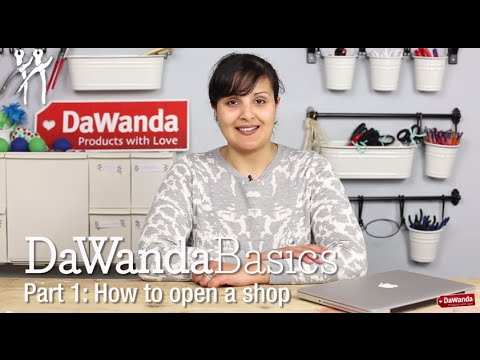 DaWanda Basics Part 1: Open a Shop