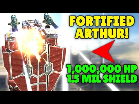 OMG! Fortified ARTHUR TITAN With 1 Mil Shield HP And Durability! War Robots Max Level Gameplay WR