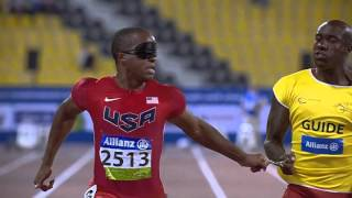 Men's 100m T11 | final |  2015 IPC Athletics World Championships Doha