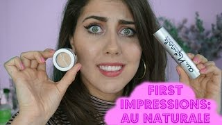 FIRST IMPRESSIONS: AU NATURALE FOUNDATION STICK & CONCEALER // The Green Bunny