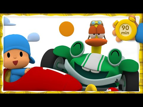 🚗 POCOYO AND NINA - Car race [90 minutes]   ANIMATED CARTOON for Children   FULL episodes