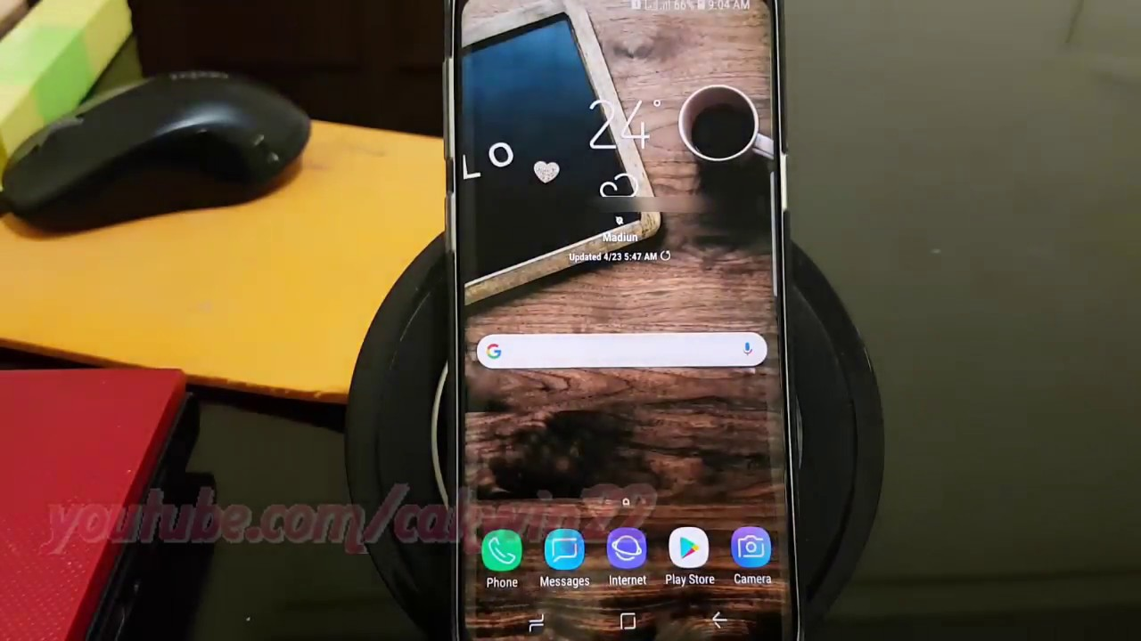 Samsung Galaxy S9 : How to Set Preferred SIM Card for Text Messages  (Android Oreo)