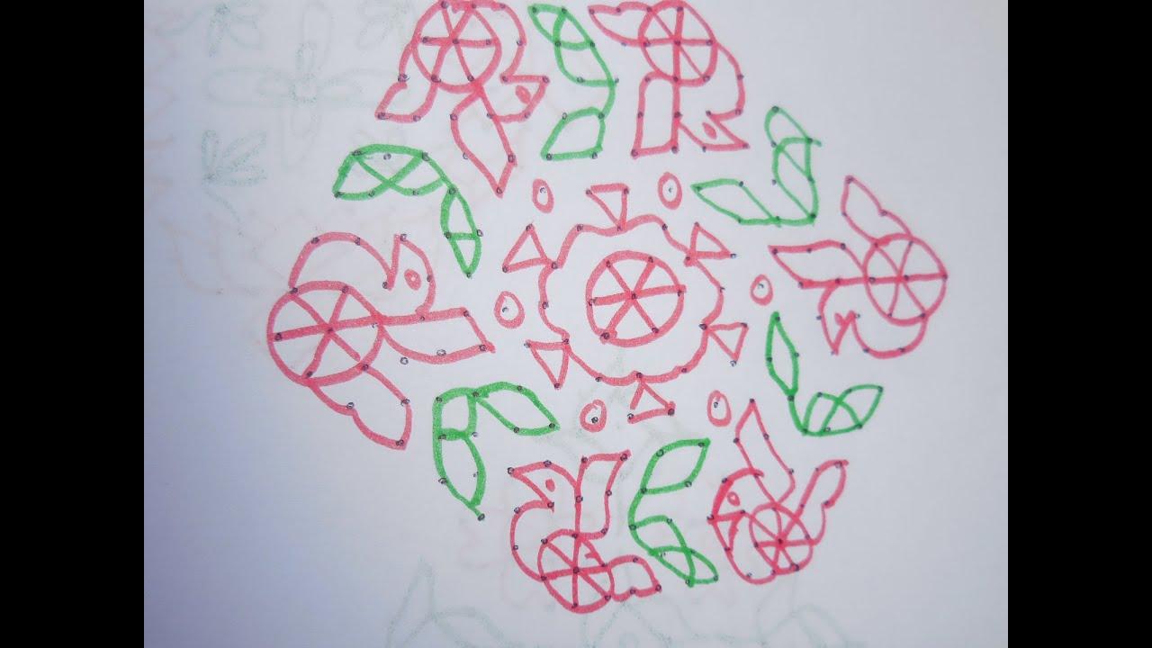 New Design Kolam With Dots