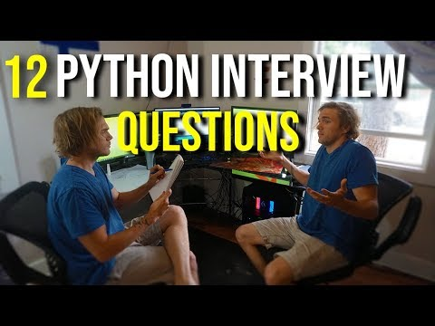 12 ESSENTIAL PYTHON INTERVIEW QUESTIONS (20,000 Subscriber GIVEAWAY!)