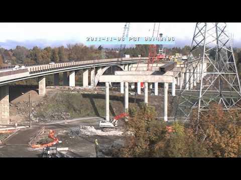 Willamette River Bridge Time Lapse 2011 HD