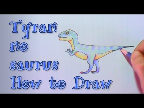 Tyrannosaurus T-Rex the Giant Dinosaur How to Draw and Color with Pen and Pencil Color