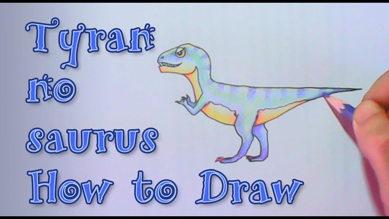 tyrannosaurus t rex the giant dinosaur how to draw and color with