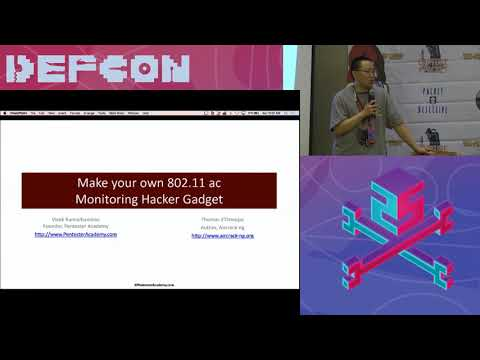 Packet Hacking Village 2017 - MAKE YOUR OWN 802.11AC MONITORING HACKER GADGET BY THOMAS D'OTREPPE