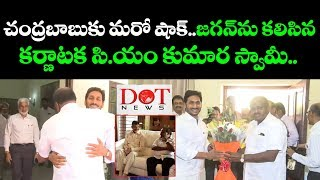 Karnataka CM Kumara Swamy Meets Andhra Pradesh CM YS Jagan in Delhi | Dot News